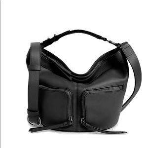 ALLSAINTS BLACK LEATHER NEW CROSSBODY BAG